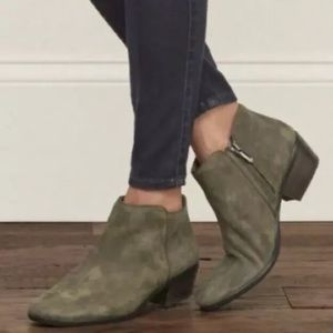 Sam Eldeman Petty Chelsea Ankle Boots Olive Green